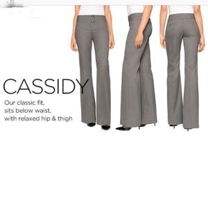 The Limited Cassidy Fit Gray Flare Leg Dress Pants